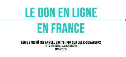 5e baromètre e-donateurs : 1 Français sur 4 déclare faire des dons par internet